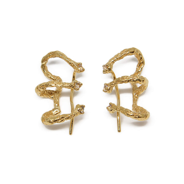 MOMENTS Climber Earrings - Gold