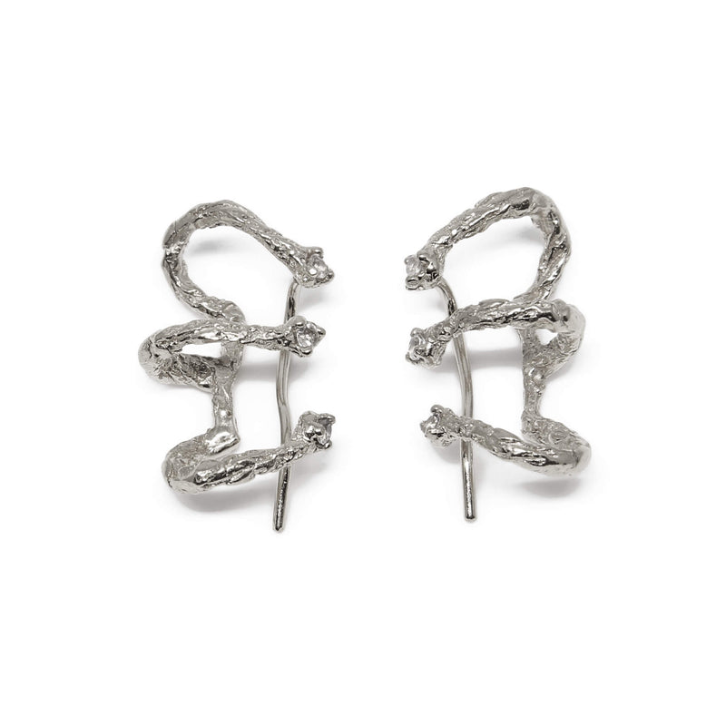 MOMENTS Climber Earrings - Silver