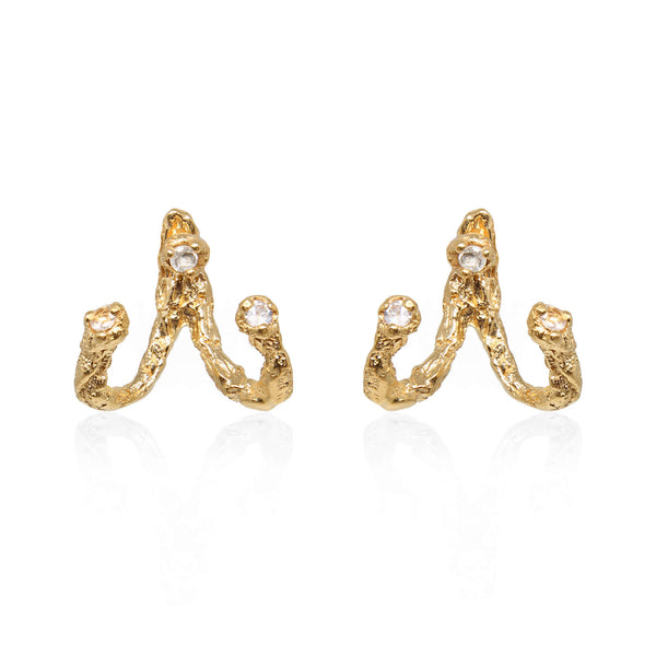 MOMENTS Jacket Earrings - Gold