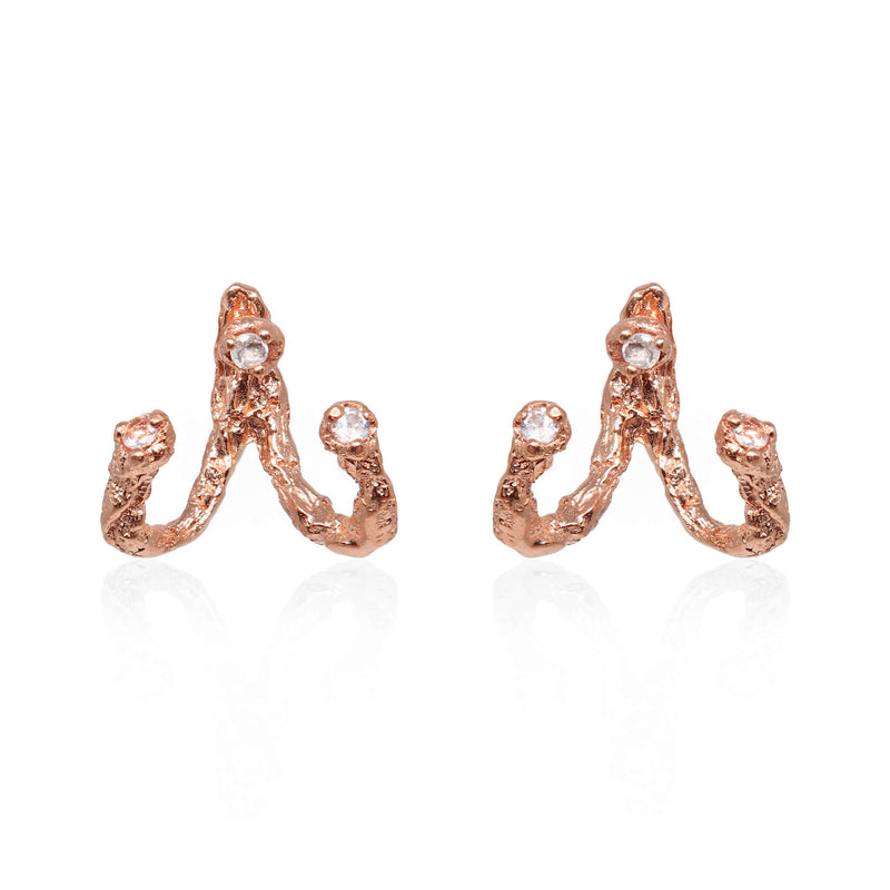 MOMENTS Jacket Earrings - Rose Gold