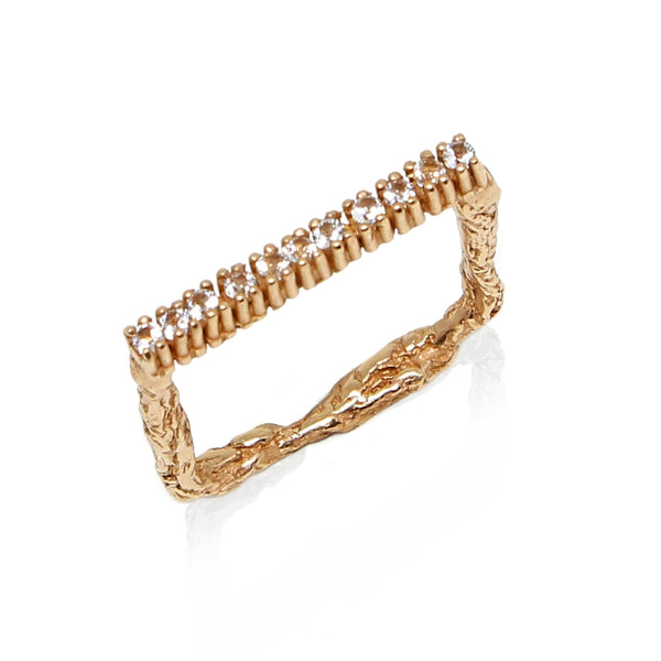 ILLUSION Square Eternity 18kt gold ring