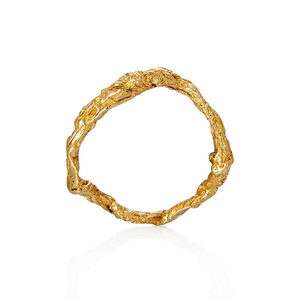 ILLUSION CIRCLE RING - GOLD