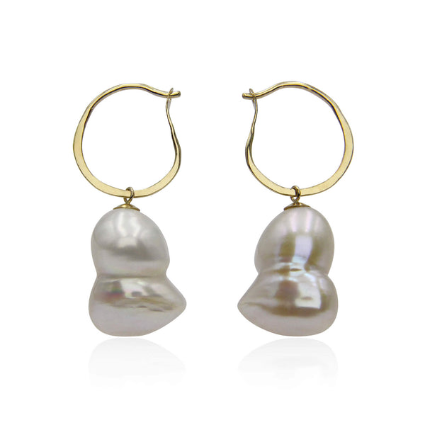 twin pearls earrings 9ct gold