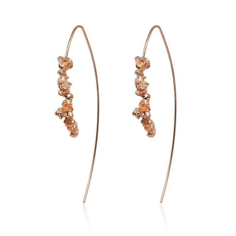 UNDER EARTH HOOK HOOPS-Rose gold