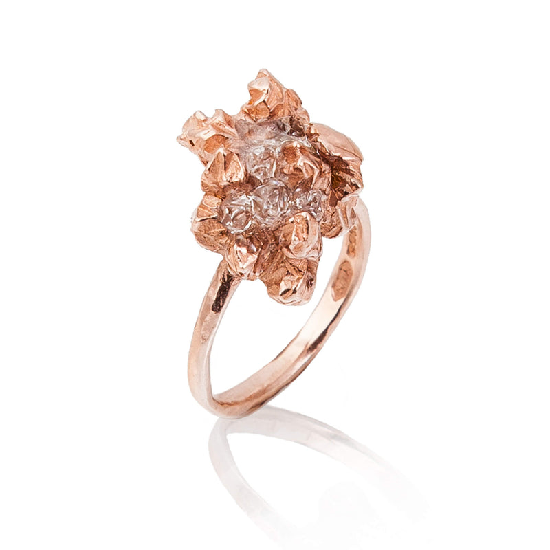UNDER EARTH Irregular Ring - Rose Gold