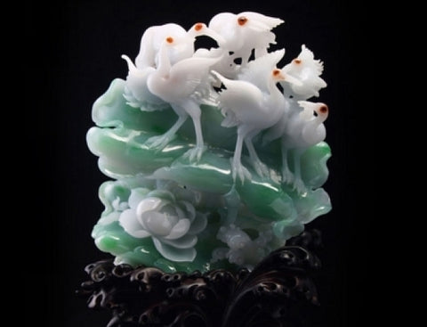Natural jadeite carving trpe A jadeite carvings