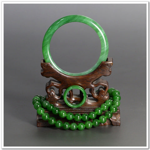 Natural jade jewelry green nephrite collectibles