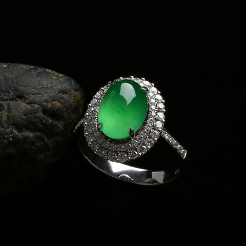 Natural jade ring jadeite ring grade A