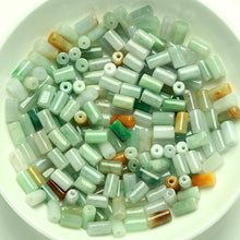 Natural jade jadeite cylinder beads mixed colors wholesale