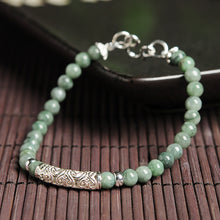 Natural jade jadeite silver bracelet wholesale