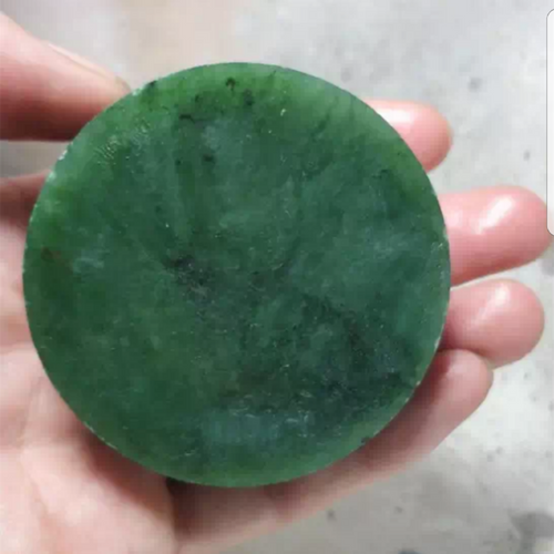 Natural Siberian Jade Rough Russia nephrite Raw (200g, 61X61X20mm)