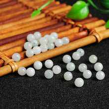 Natural jade jadeite beads white light green wholesale