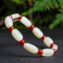 Natural jade nephrite red agate bracelet wholesale