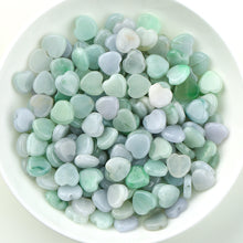 Natural jade jadeite beads heart-shaped mixed colors wholesale