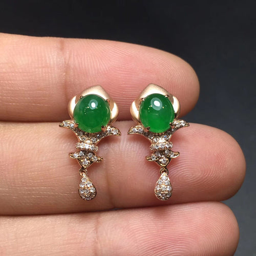 Natural Jade Earrings Jadeite Earrings