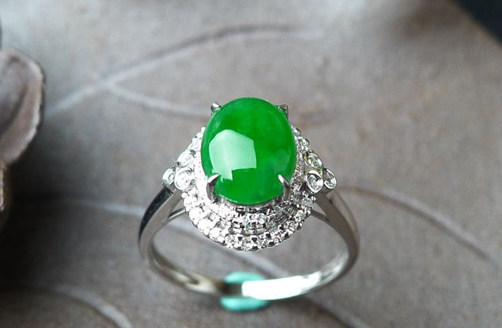 Natural Jade Ring Jadeite Ring TP26