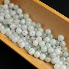 Natural jade jadeite beads white light mixed colors wholesale