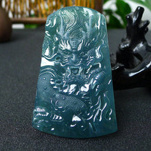 Natural jadeite Dragon pendant