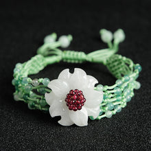 Natural jade jadeite bracelet flower wholesale