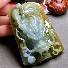 Natural jade jadeite carving collectibles Chinese dragon