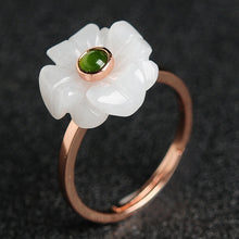 Natural jade jadeite flower ring wholesale