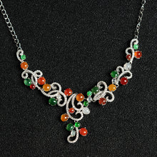 Natural Jade Necklace Jadeite Silver Necklace NE01