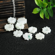 Natural Jade Beads Jadeite Flower Bead