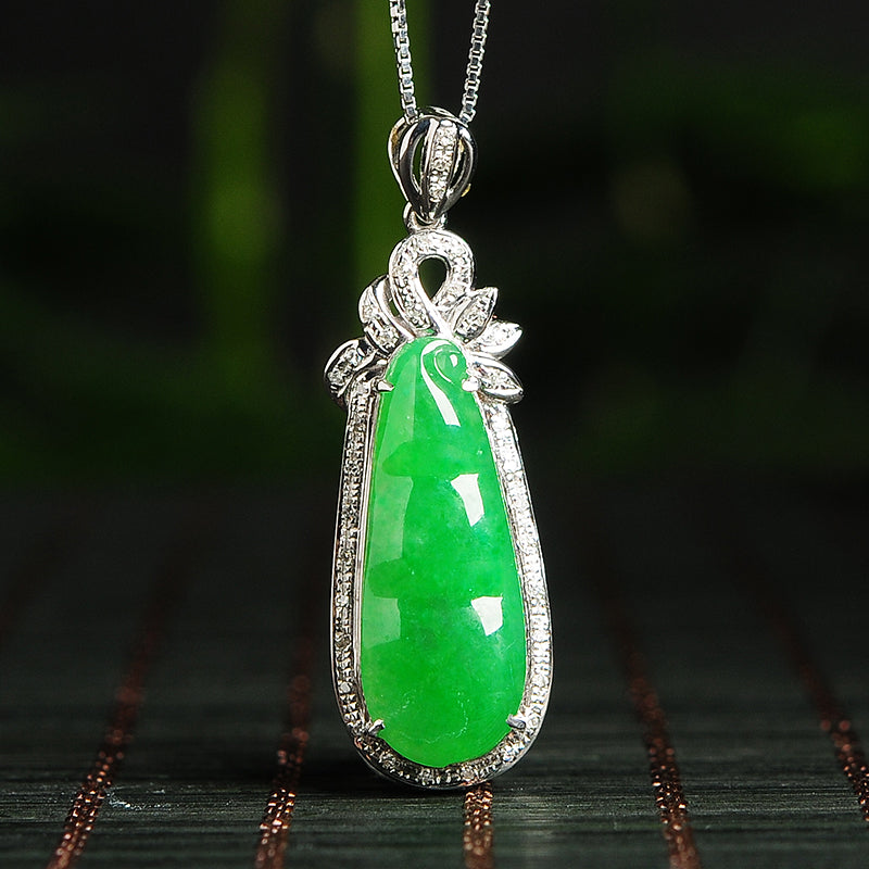 Natural jade pendant jadeite gold pendant necklace