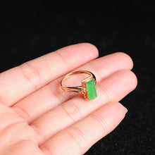 Natural jade ring gold jadeite ring