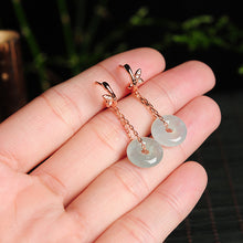 Natural jade earrings jadeite silver earrings