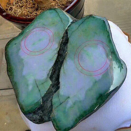 Natural jade rough jadeite raw stone