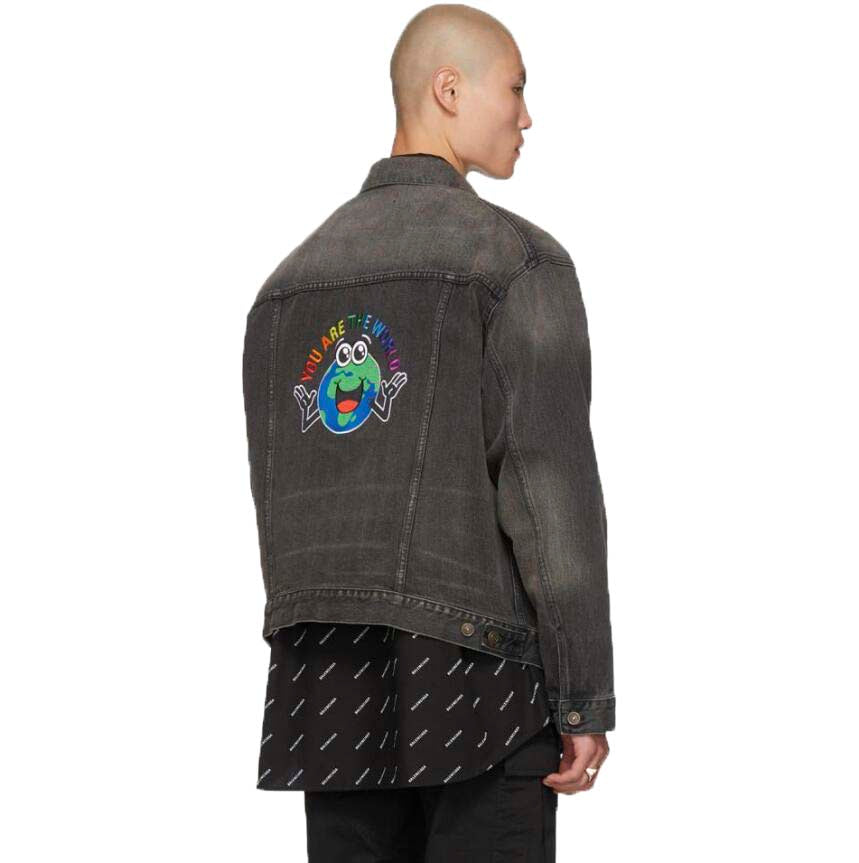 BALENCIAGA YOU ARE THE WORLD EMBROIDERED JACKET