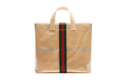 GUCCI x CDG HAPPY HOLIDAYS VINYL TOTE BAG