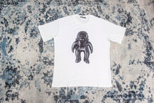 LV WHITE JACQUARD VELOUR SPACEMAN T-SHIRT