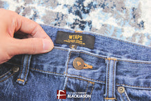WTAPS BLUES.BASIC.WASHED.TROUSERS.COTTON.DENIM