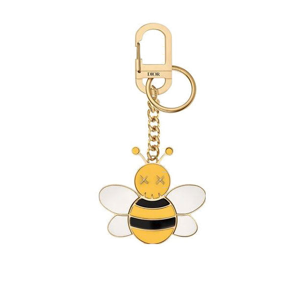 DIOR x KAWS BEE KEY RING IN BRASS AND RESIN