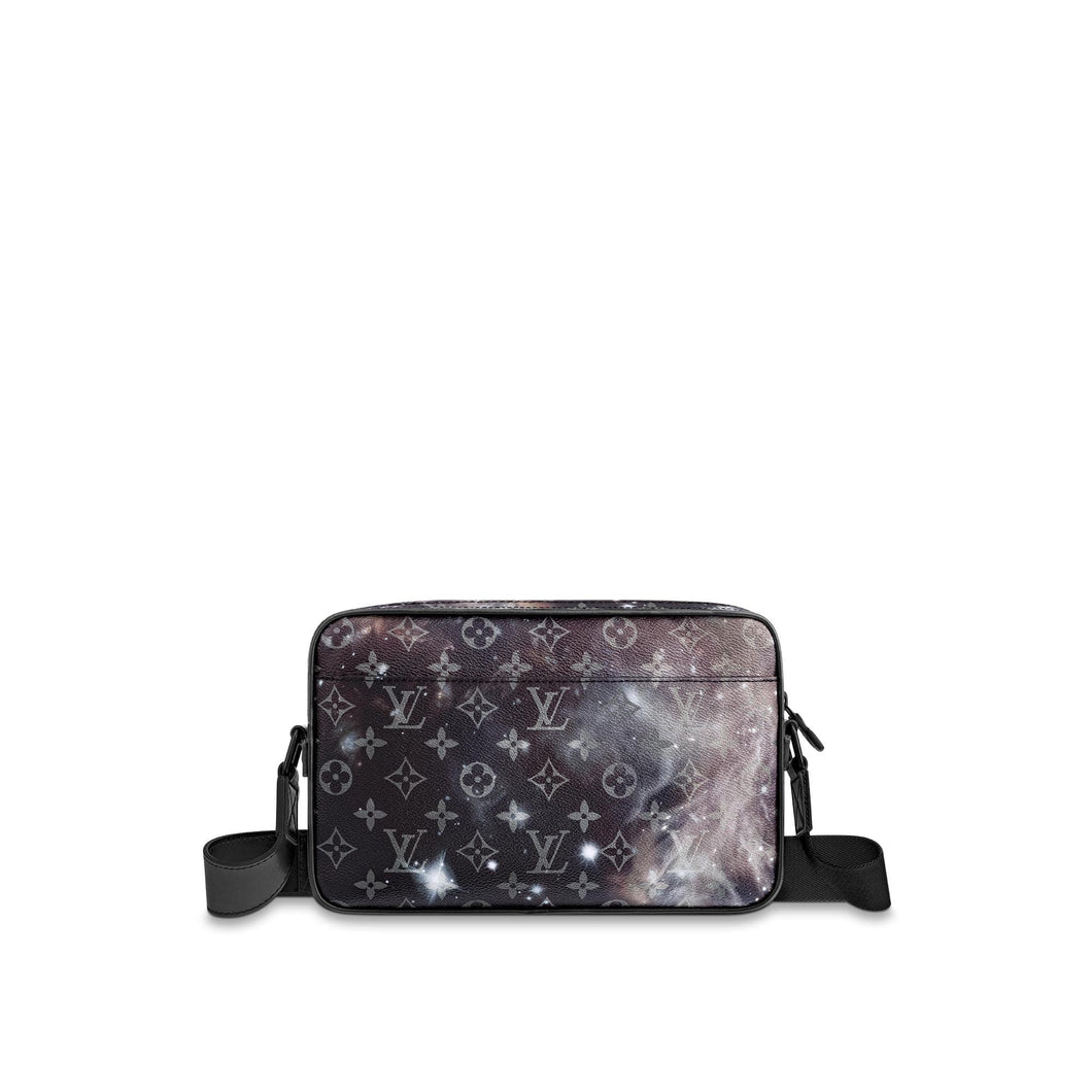 LV MESSENGER ALPHA MONOGRAM GALAXY BLACK MULTICOLOR