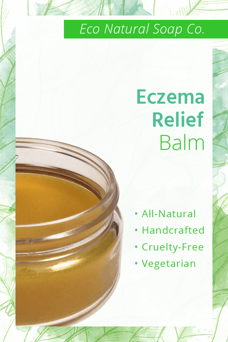 Pinterest graphic for Eco Natural Soap Co.'s Eczema Relief Balm.