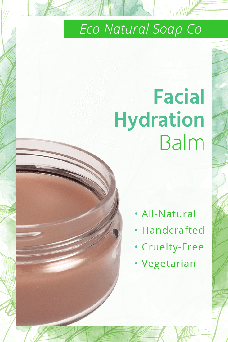 Pinterest graphic for Eco Natural Soap Co.'s Facial Hydration Balm.
