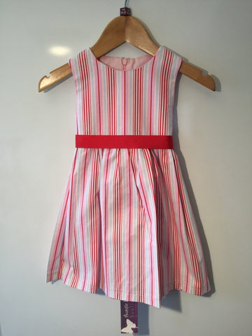 Girl's Pink Candy Stripe Dress