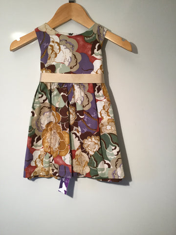 Autumn coloured flowers girl's dress