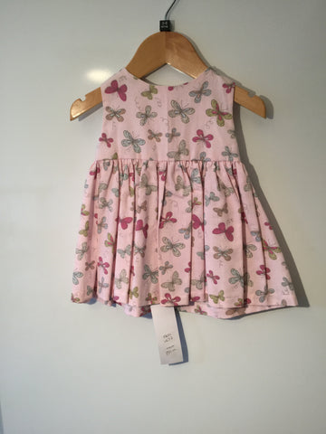 Pale pink butterflies girl's dress