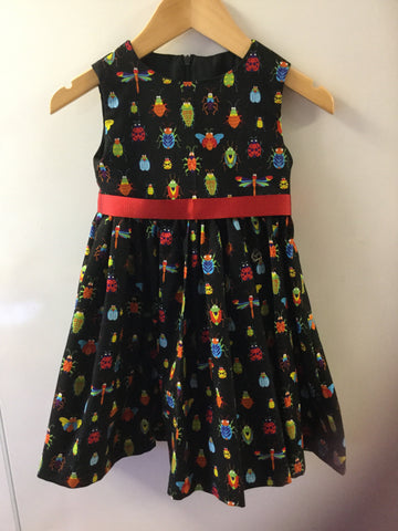 Girl's Brightly Coloured Bug Dress