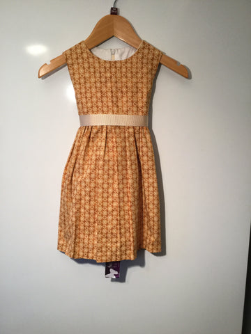 Girl's Golden Flower Dress