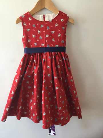 Girl's Anchor & Sailing Boat Dress