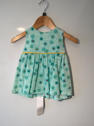 Aqua blue with spots girl's dress