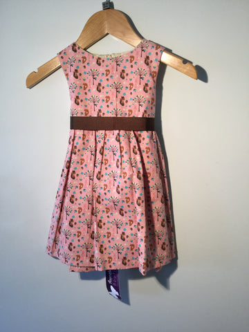 Girl's Fox, Squirrel & Rabbit Dress