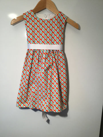 Girl's Geometric Pattern Dress