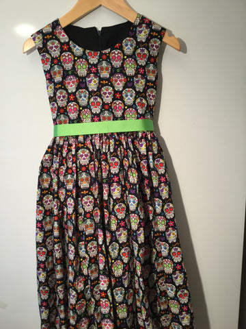 Day of the dead skulls girl's dress