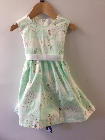 Girl's Watercolour Mermaid Dress